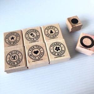 Stampin' Up rubber stamp seal set 2006